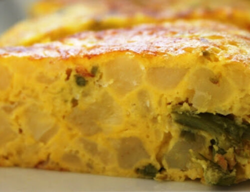 Spanish omelette with wild asparagus